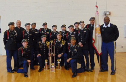 JROTC Drill Team First Place Winner Picture