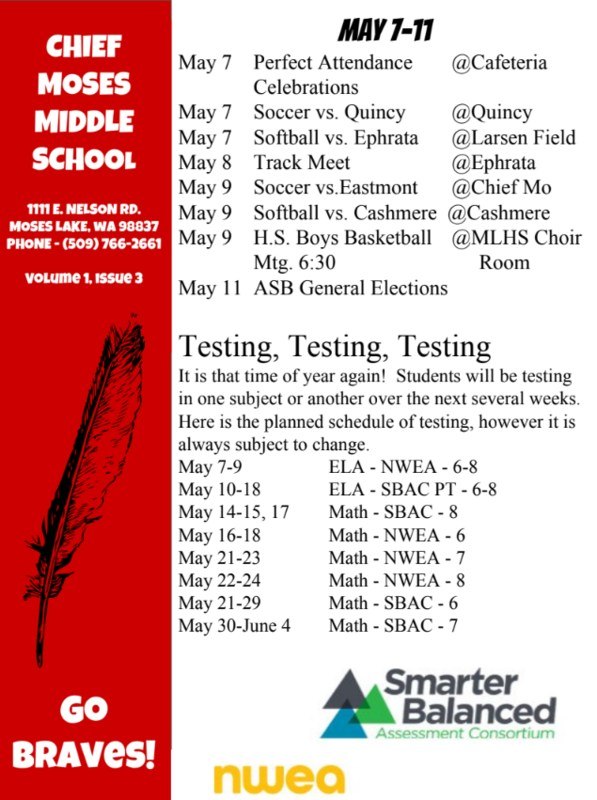 Some upcoming events and happenings at CMMS in the month of May