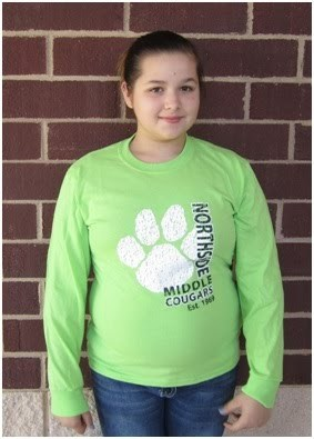 Cougar green long sleeve shirt