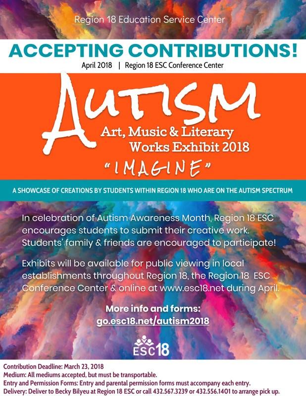 Autism Art, Music & Literary Works Exhibit 2018 Featured Photo