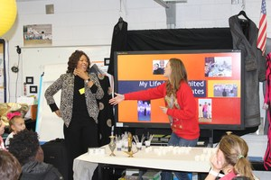Lia Taylor's class special guest speaker, Kristy Alston,