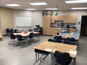 Students will move in after Christmas break.