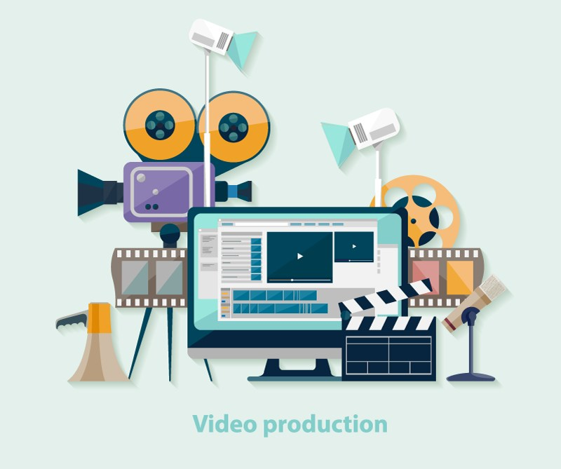 Video production equipment for school websites.
