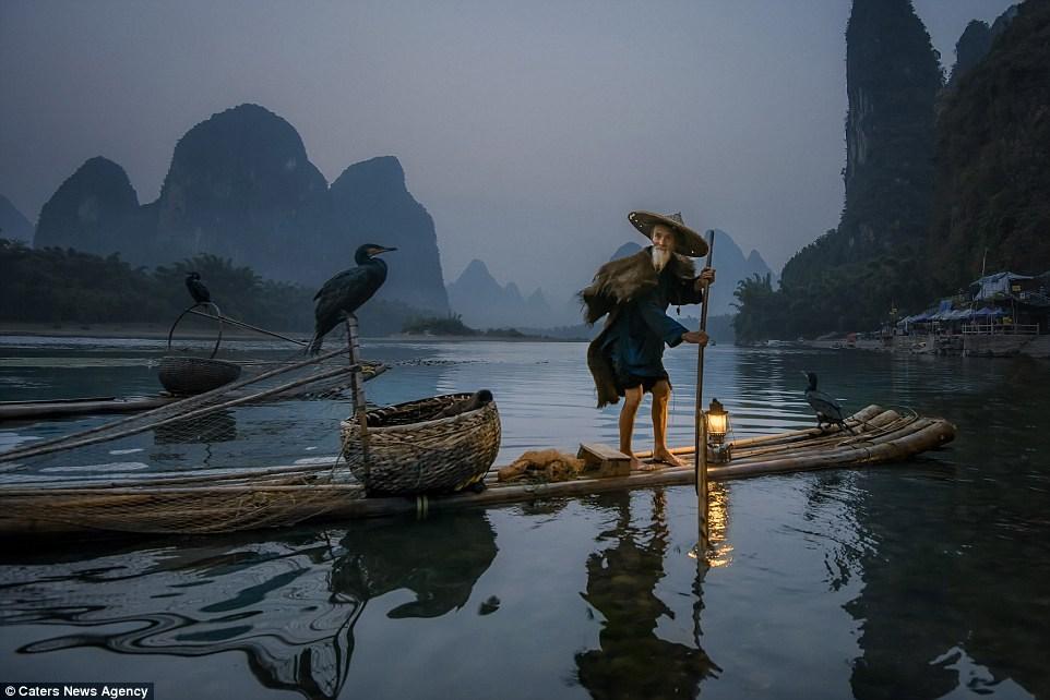 Fisherman in Guilin, China
