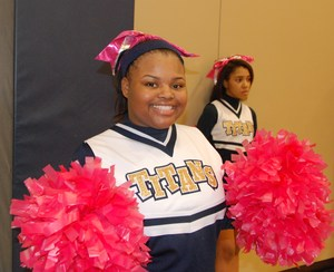 CPA Titans cheerleader, Pink Out game 2017