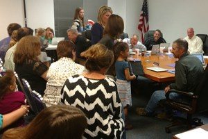 Board Members Introduced to Dot and Dash by Chisholm Trail Students