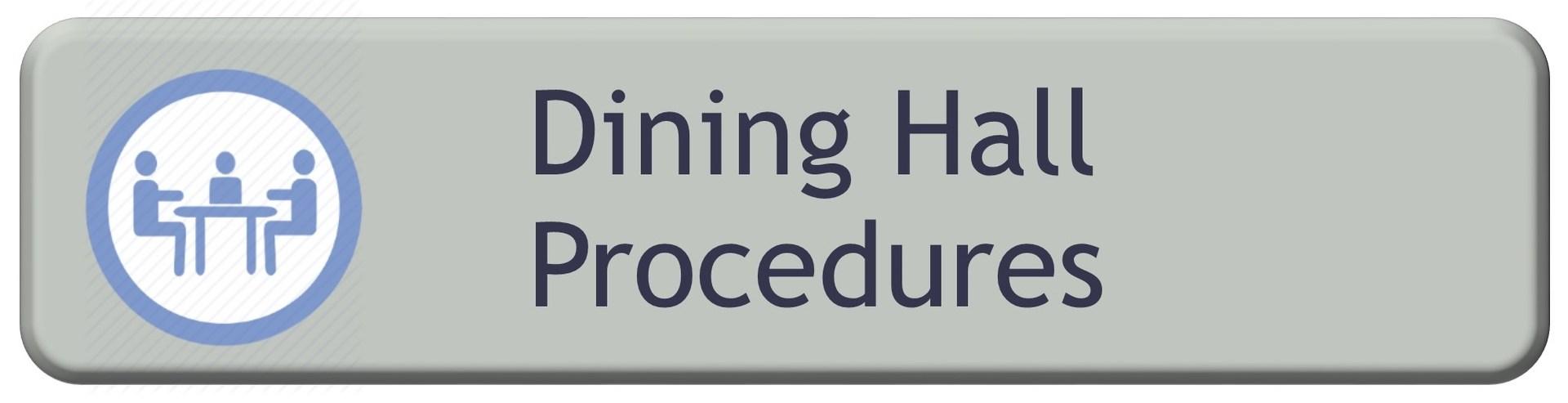 Dining Hall Procedures