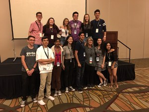 Golden Valley Students at the Student Television Network (STN) Awards in Anaheim
