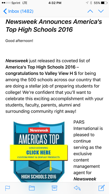 Newsweek Announces America's Top High Schools 2016 Thumbnail Image