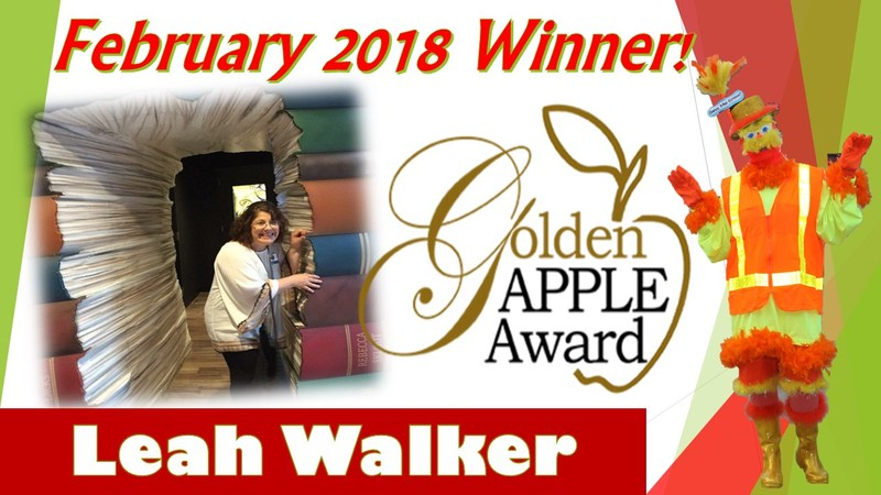 Mrs. Leah Walker named Golden Apple Winner Featured Photo