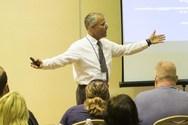 VAPA Coordinator Greg Solomon gives a presentation.