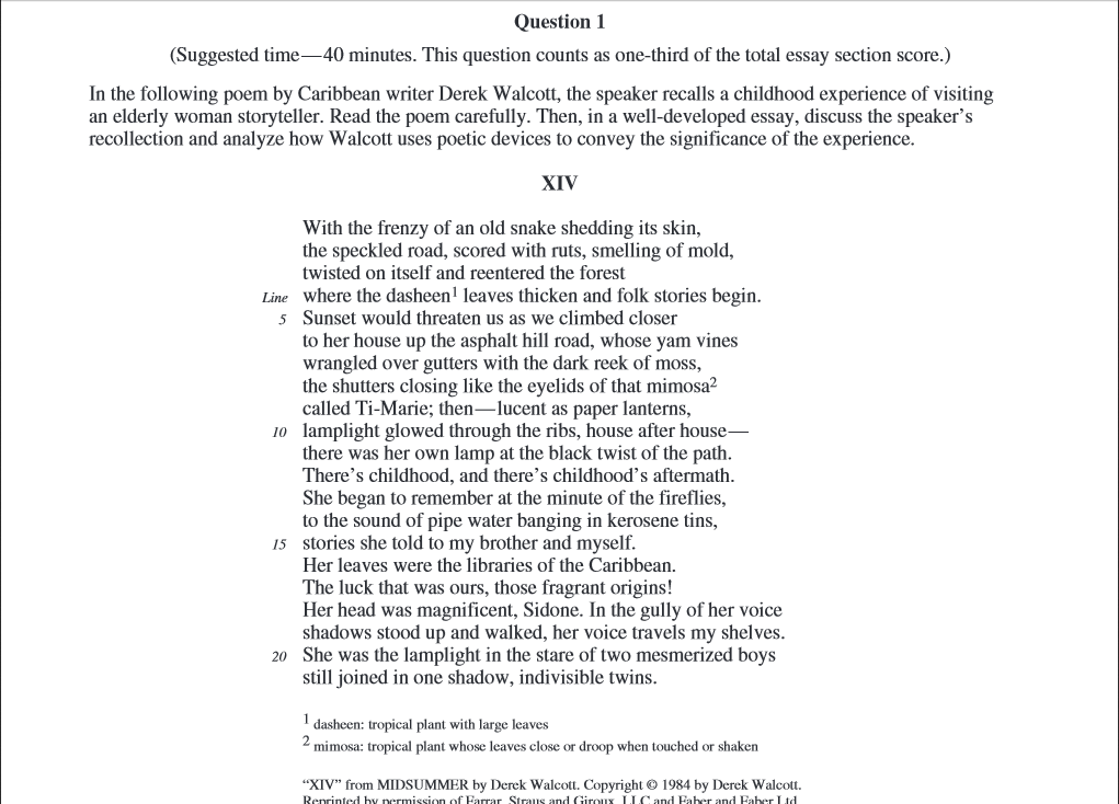 2. Cluster and study the poems thematically to help students to make a good choice of second poem.