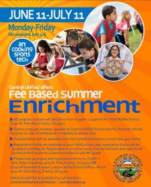 Fee Based Summer Enrichment Flyer