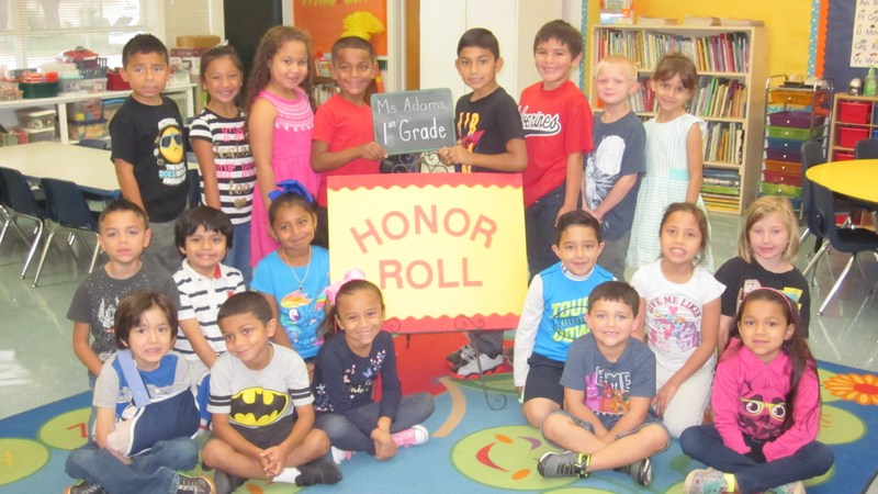 First Grade Honor Roll Students for the 2nd Six Weeks Thumbnail Image