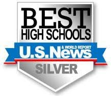 U.S. News Best High Schools Ranking Silver logo
