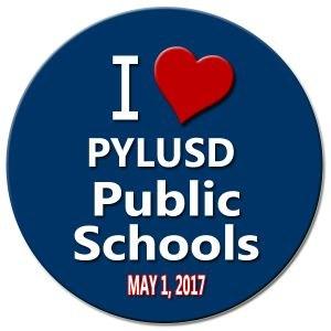 I heart PYLUSD public schools logo