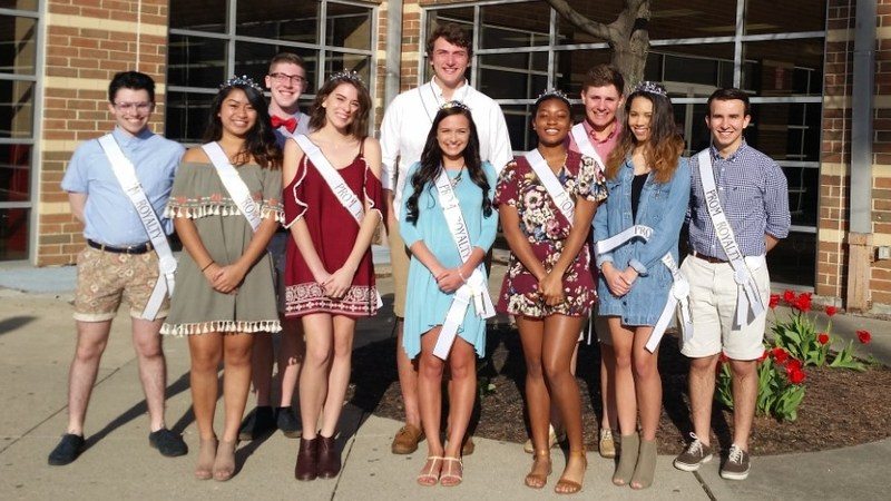 Image of Fairfield High School Prom Court members