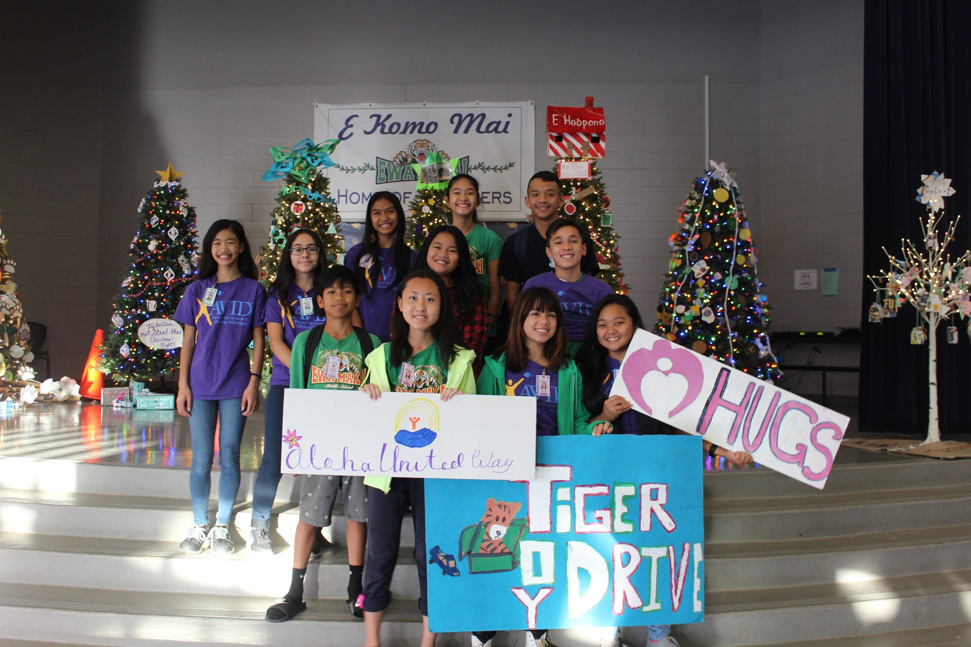 Tiger Toy Drive 2017 with Aloha United Way and HUGS