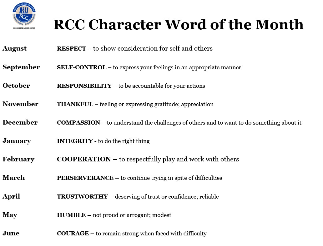 RCC Character Word of the Month