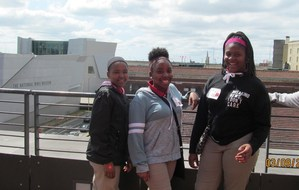 Baker Middle School Art Students at Ogden Museum, New Orleans