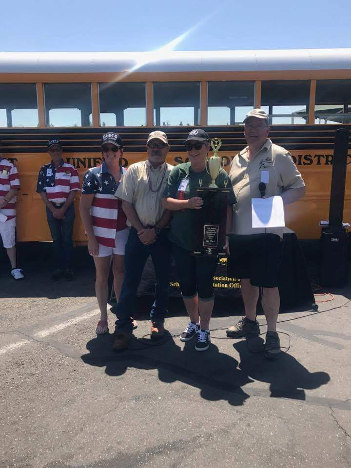 California 2017 top school bus driver, Roadeo competition: Kristen Malone!