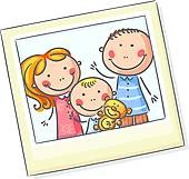 Family Photograph Clipart
