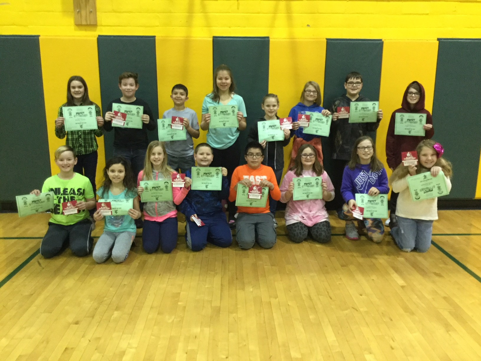 5th grade perfect attendance social trimester 2