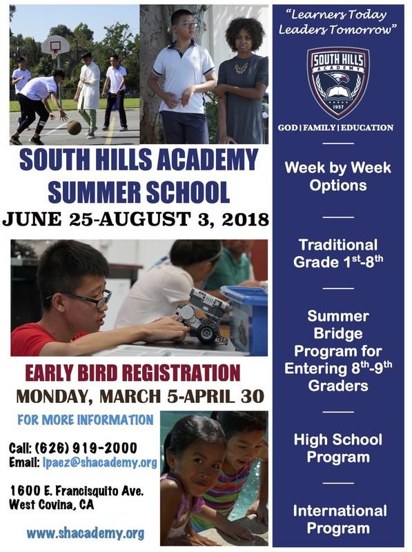 SUMMER SCHOOL June 25-August 3, 2018 Featured Photo