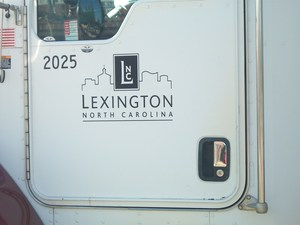 Sign on truck belonging to Lexington Utilities Natural Gas.