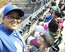 Residential Student attend a Mets Game