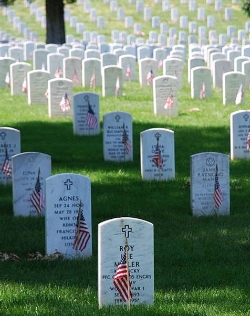 A photo of the U.S. military cemetery in Arlington County, Virginia
