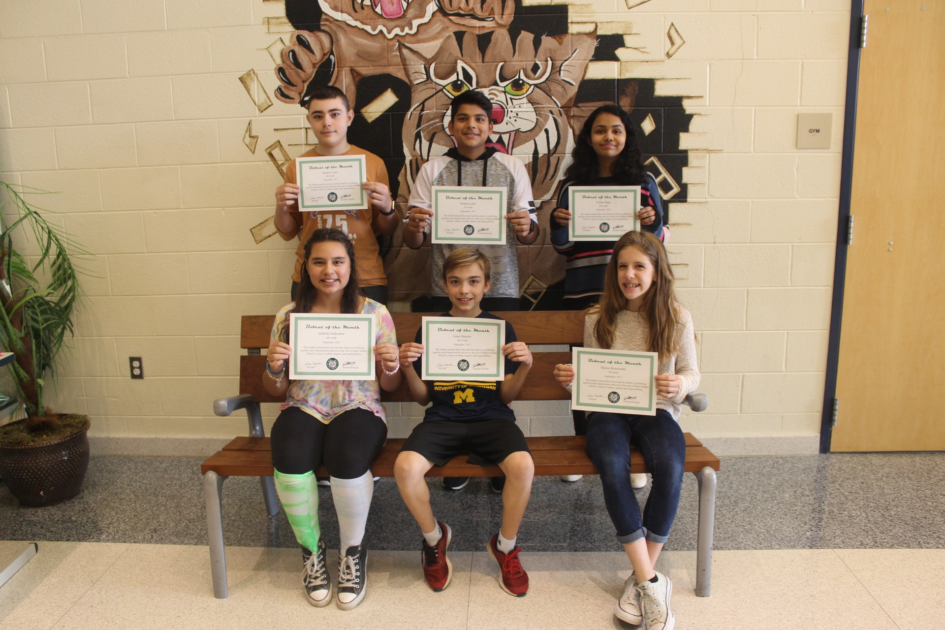 Sept 2017 Bobcats of the Month