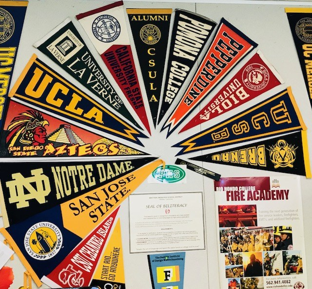 University pennant banners posted in the Expanded Horizons Center