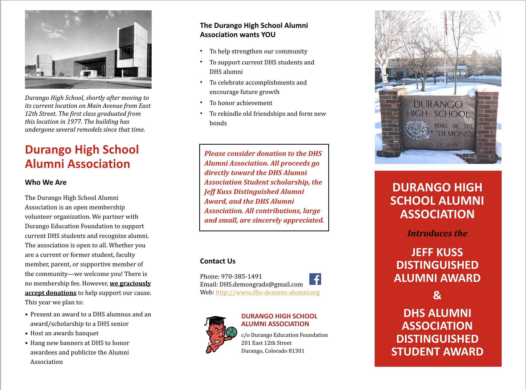 DHS Alumni Brochure