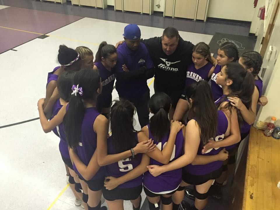 Granada Middle School girls volleyball team