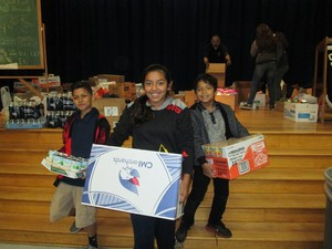 Students at Baldwin Park Unified's Central Elementary School collected nearly twice as many cans of food for an annual holiday food drive as they did in 2015 after student leaders created an incentive program.