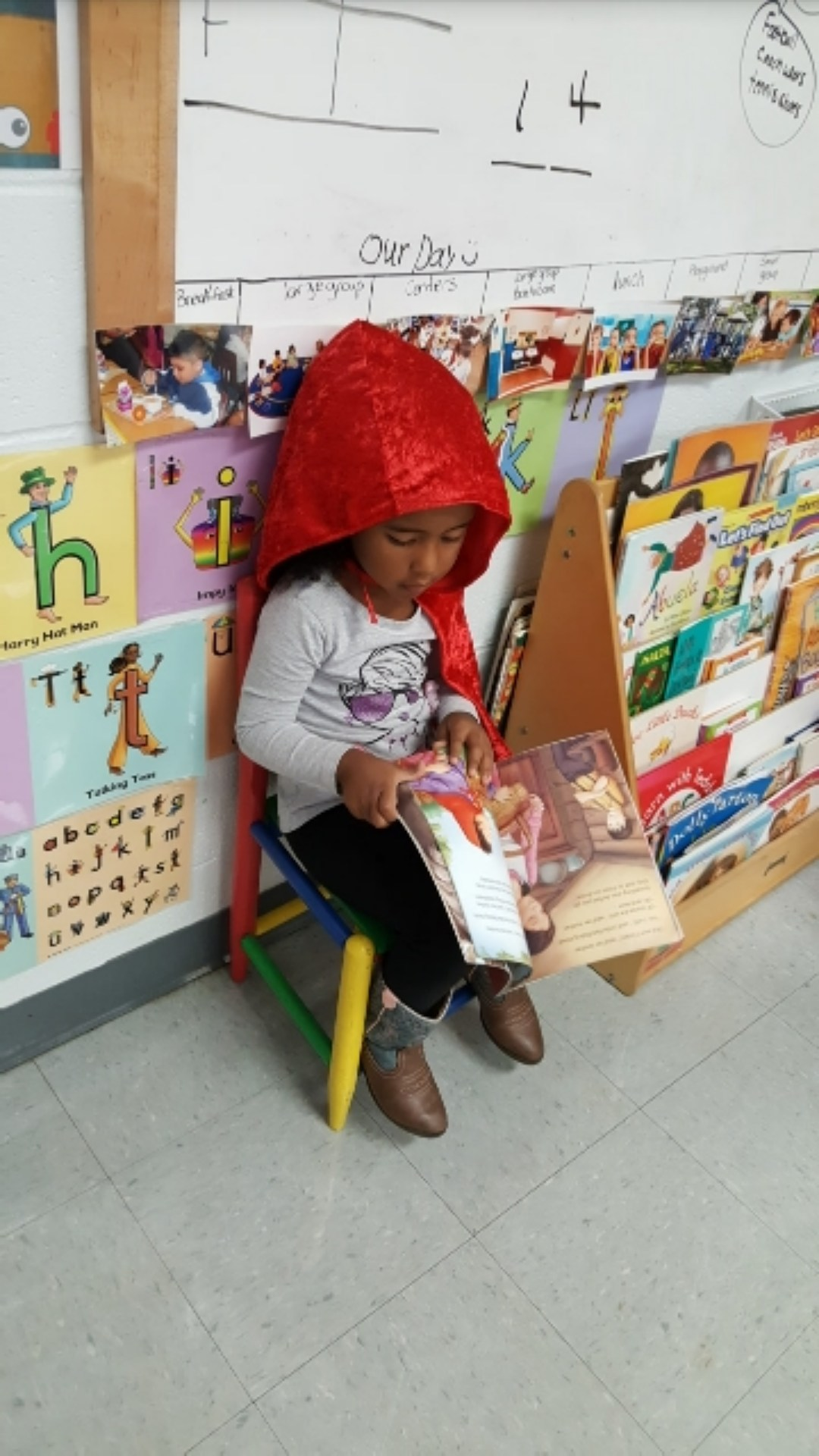 Reading Little Red Writing Hood