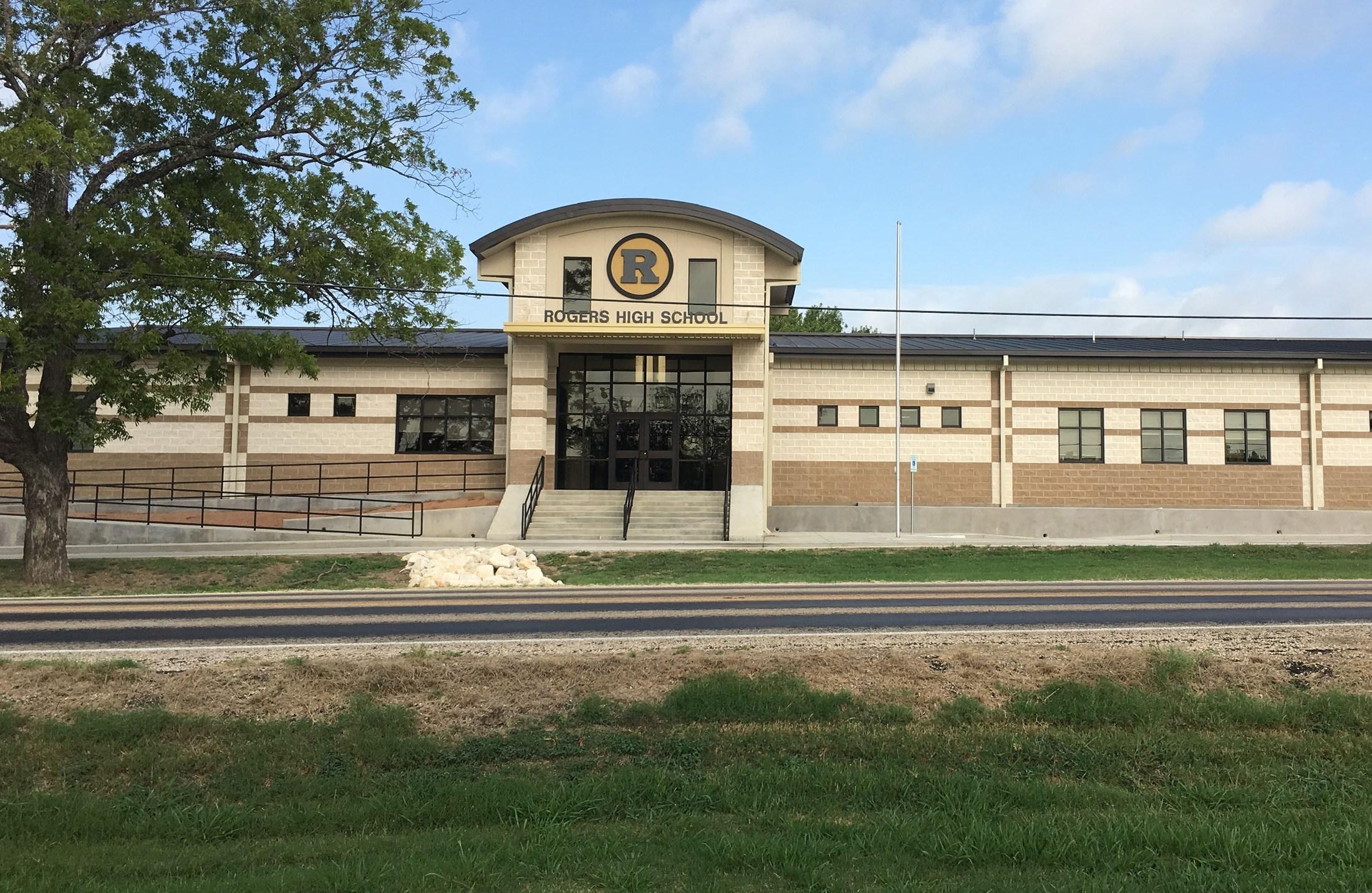 Front of High School Building