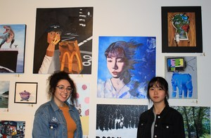 Skylar Scott and Jiaxi Luo with their gold key art