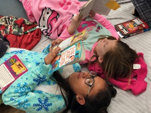 Elmer Wood students reading