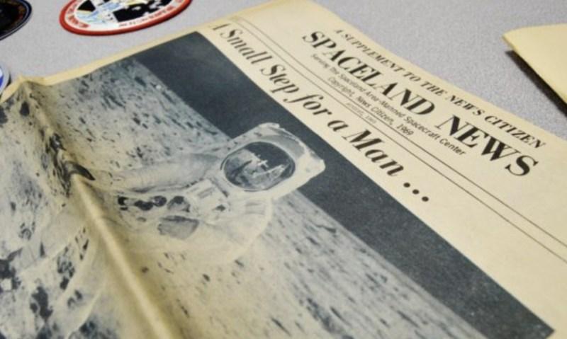 Newspaper from first lunar landing