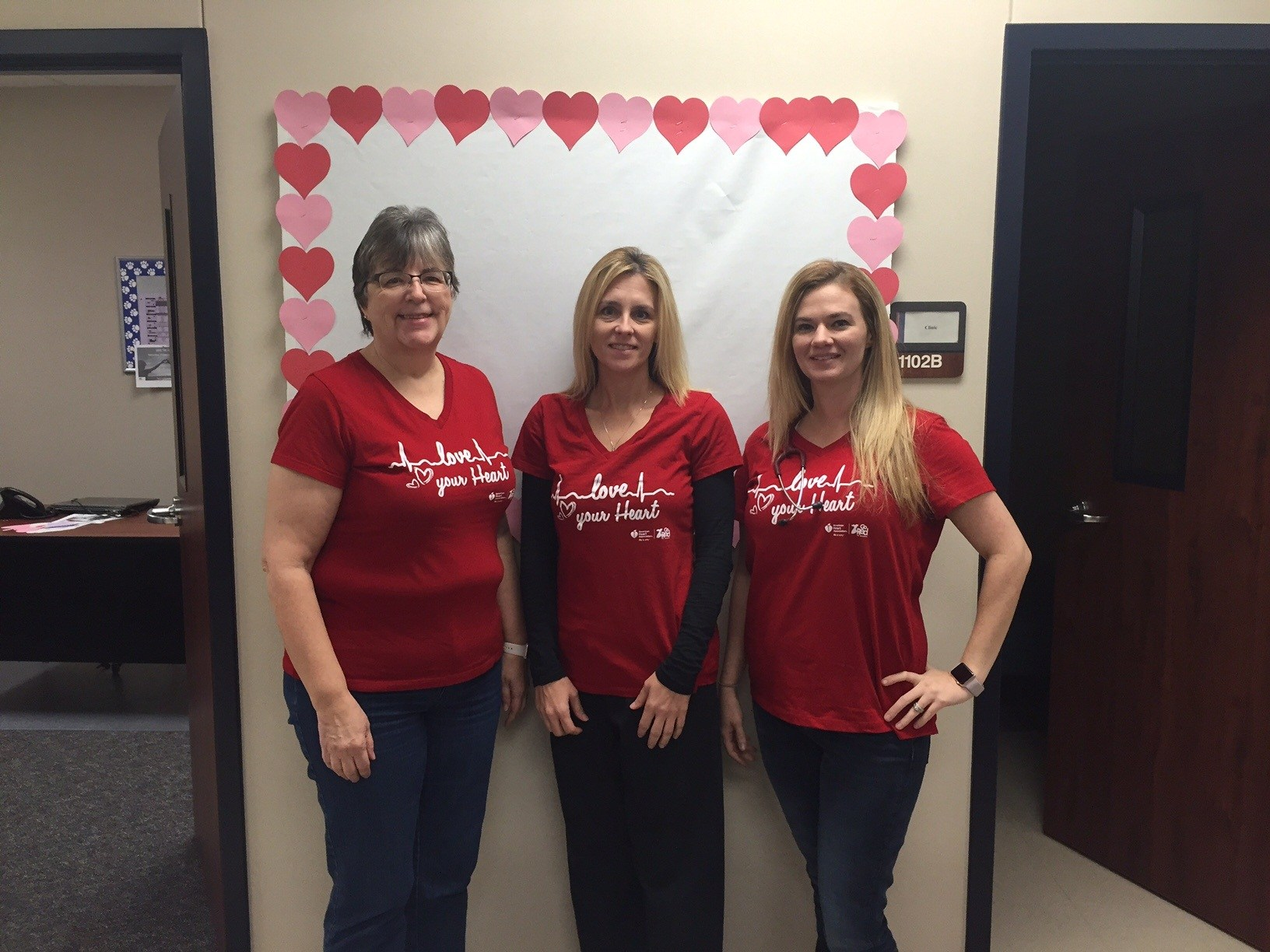 TMHS Staff Go RED!