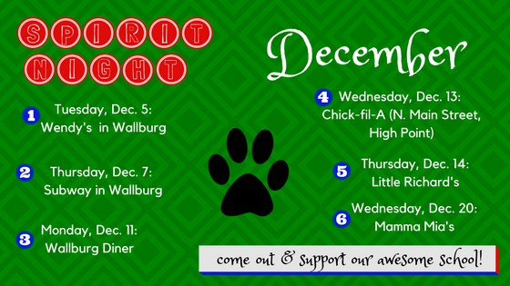 December Spirit Nights
