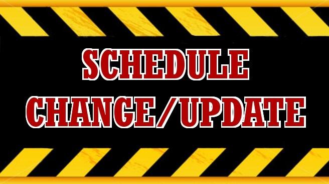 SCHEDULE CHANGE 5/24 & 5/26 Featured Photo