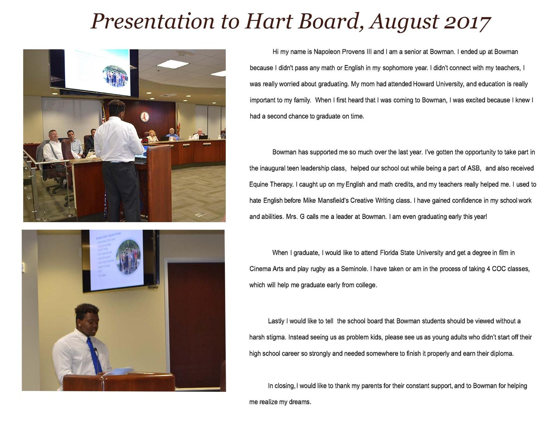 2017 Board Presentation