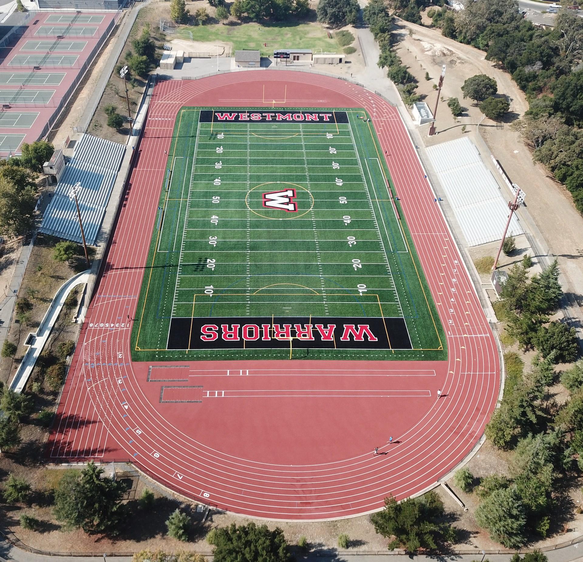 westmont high school new football field