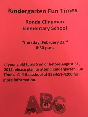 Kindergarten Fun Times Poster