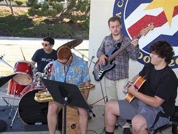 PVHS AVID student band plays