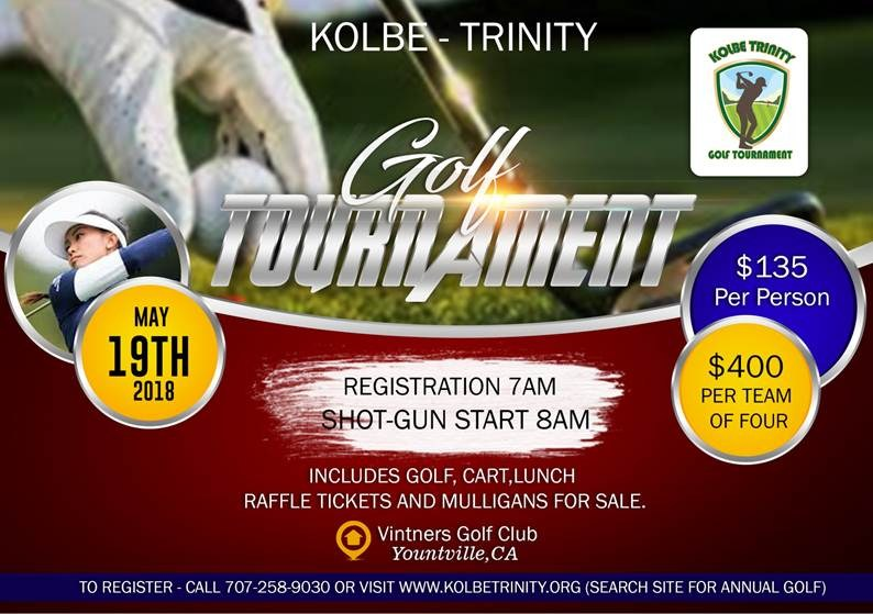 Kolbe - Trinity Golf Tournament - May 19th Thumbnail Image