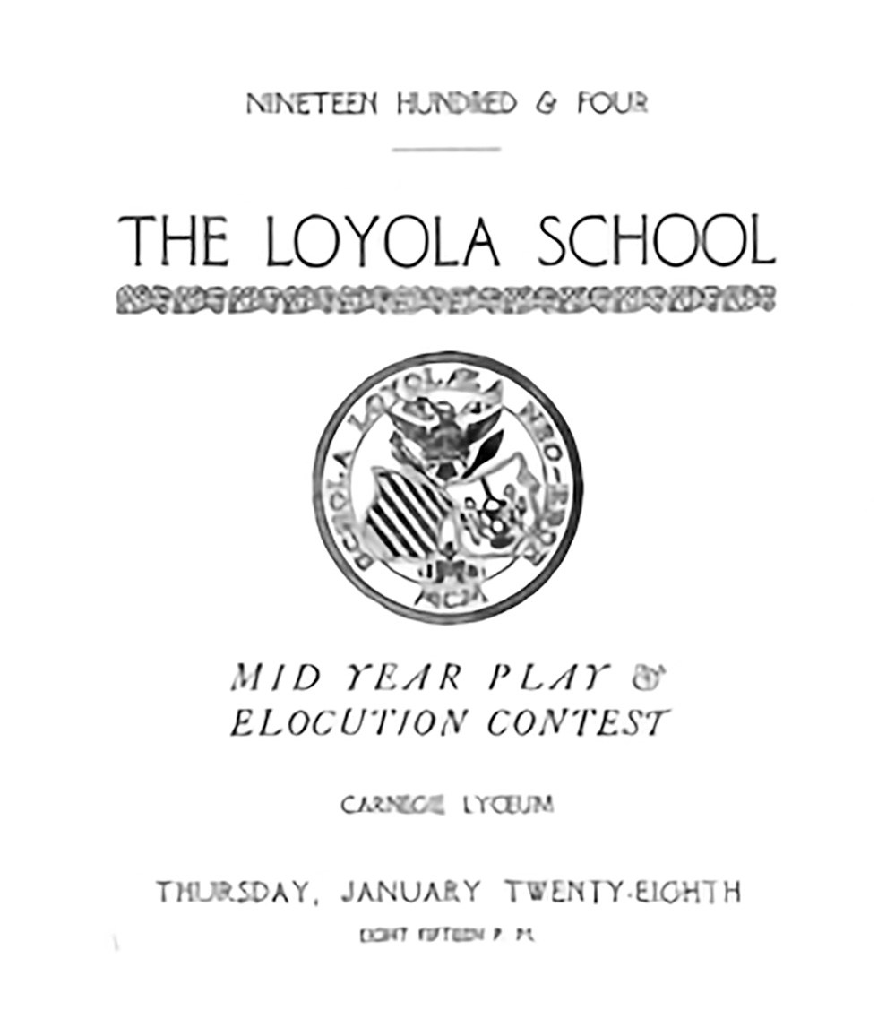 Loyola School Historical Pictures